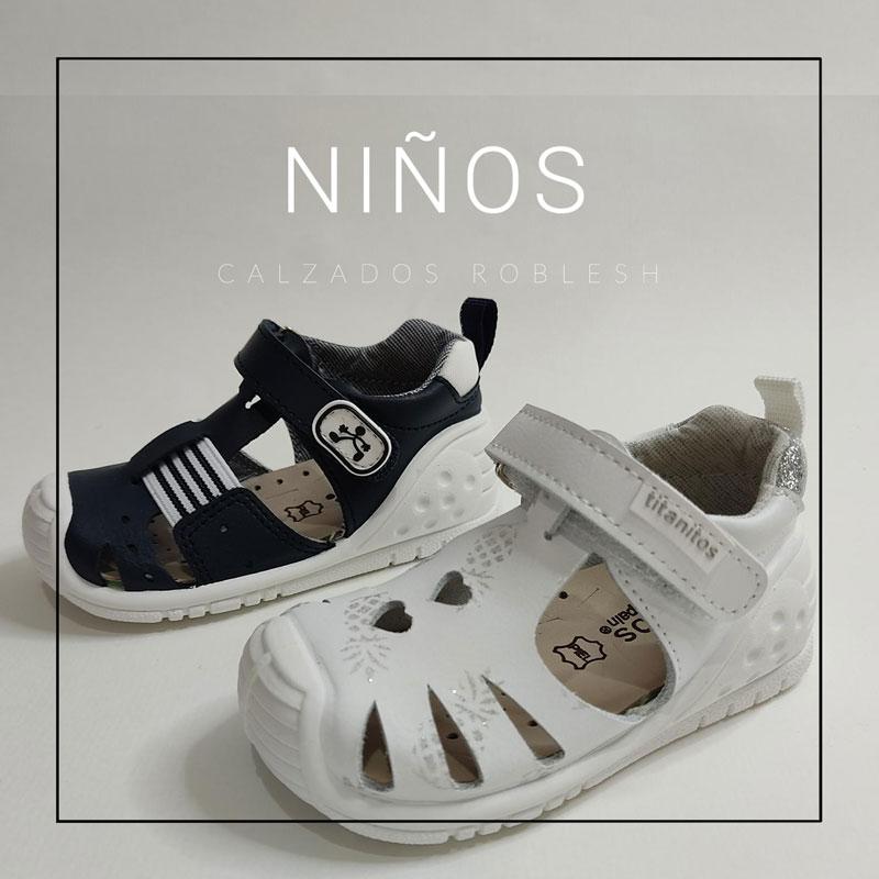 Zapatos para niños colección verano primavera, zapatería en Murcia